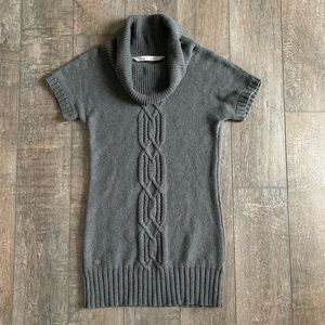 Athleta Cable Knit Cowl Neck Tunic Sweater